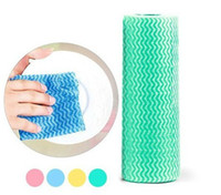 other kitchen 30g 50pack roll Eco-friendly non-stick oil cleaning cloth Can tear point Can cutting disposable kitchen cloth cleaning wipes