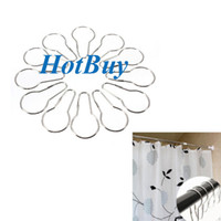 glide - New Shower Curtain Rings Hooks Chrome Bath Bathroom Clip Easy Glide Hooks