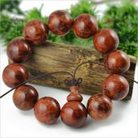 Slap & Snap Bracelets Fashion Bracelets New 2014 Natural Black rosewood beaded bracelets Fashion 20mm beads bangles Vintage DIY wooden jewelry For women & men HH690494