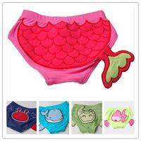 Boy One-piece S-M-L 5 Styles Boys Swimming Trunks Swimwear Briefs Animal Shapes Fish Dolphin Goldfish Crab Pattern Swimsuit Kids Children Beach Clothing A661