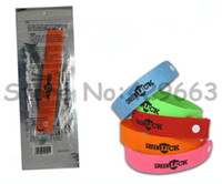 Wholesale 1000pcs GREEN LUCK Super Quality genuine Camping lock on bugs GREENLUCK Mosquito wrist band Mosquito Repellent Band