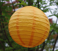 Wholesale cm Chinese Paper Lantern Round Orange for party decoration Wedding Lantern Decorations