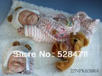 Unisex Birth-12 months Vinyl Hot Lifelike Baby Doll Gift Reborn Baby Dolls for girls princess Dolls Sleeping silicone vinyl dolls