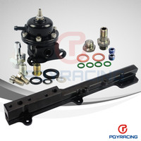 Fuel Pressure Regulator fuel - PQY STORE BRAND NEW Adjustable Fuel Pressure Regulator and Fuel Rail For B Series B16 B18C EG DC EK