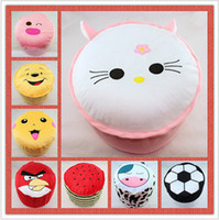 Wholesale 3pcs Special offer popular cartoon gas stool sits baby cartoon toys inflatable children chair with cartoon pump g pc