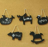 Wholesale Wooden Chalkboard Wall Animal on the small blackboard animal other stationery writing board