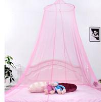 Adults Twin Circular Wholesale - night mosquito netting Net Good Sleeping Graceful Elegant Summer Bed Curtain Netting Canopy