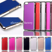 Plastic best hard metal - Best Quality Chrome Metal Brushed Aluminum Hard Plastic Case Cover Shell For iPhone S inch