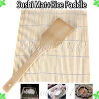 Wholesale Rice Paddle Hand Roller Japanese Sushi Rolling DIY Maker Making Tool Makisu Bamboo Mat quot x quot x mm