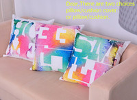 Wholesale KAF002 Printed Cushion Pillow Letters Emoji Pillow Cushion Cover Home Pillow Decoration Canvas Cushion Covers Freeshipping