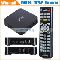 Wholesale 10pcs MX Smart Android TV Box G BOX AMLogic M6 Dual Core GB GB Cortex A9 ghz Support XBMC Youtube built in wifi DHL