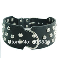 big dog boxers - Brand New quot wide Big Studded Real Leather Pet Dog Collar for Pitbull Boxer Colors M L XL