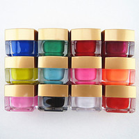 Wholesale 12PCS Mixed Color Pure Color UV Builder Gel UV Color Gel Polish Set Nail Art Decoration ML