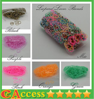 Wholesale 2014 NEW Better Quality Leopard Loom Bands Looms Colar Rubber Bands Loom Bracelets bands clips