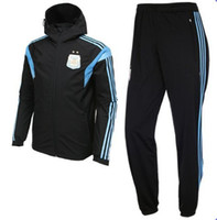 Wholesale Argentina Sideline Woven Track Suit Mens Black Soccer Tracksuit High Quality Mens Soccer Sets Brand Soccer Wear Mix Order
