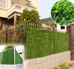 Wholesale hot SGS certificate m m artificial grass fence covering hedge garden privacy decorative landscaping G0602B008D