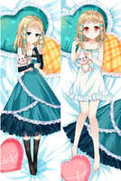 other black pillow cases - Japanese Anime Black Bullet Double sized Sexy Adult Black Bullet Dakimakura Pillow Cover Case AB