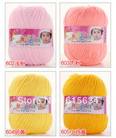 Yes Polyester / Cotton Knitting,Sewing,Crochet,Cross Stitch,Han New 10 ball Wholesale Sweater new Silk wool cashmere warm soft baby yarn Knitting Baby wool in 32 colors free shipping all000006