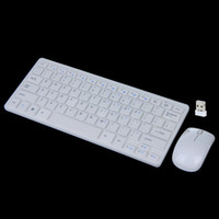 Wholesale 2 GHz Wireless Keyboard Mouse Combo White for Desktop Computer Accessories LY