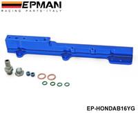 Wholesale Tansky Aluminum FUEL INJECTOR RAIL BLUE Fit For Honda Civic Si B16A B16A1 B16A2 B16A3 EP HONDAB16YG