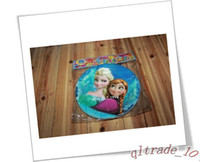 Wholesale Frozen movie kids happy birthday party cake plate decoration supplies FROZEN Square Dessert Party Paper Plates frozenc474