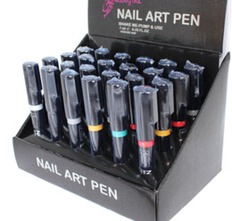 Wholesale Wonderful Lady Nail Art Pen Polish Painting Design Drawing Tool Colours available Fast dryig Lasting Lustre