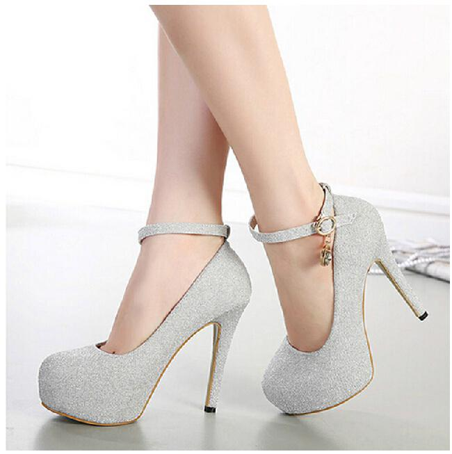 Sexy High Heels Women Shoes Woman New 2015 Ladies Ankle Strap