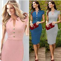 online shopping - Kate Middleton Gray Blue Pink Cotton Blened Elegant Royal Dress Women dress boutiques shopping online