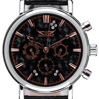 Unisex Complete Calendar Round 2014 Brand New Black Men and Women Suit Business Automaic Mechanical Men's Watch Vintage Wrist Watch for Gift