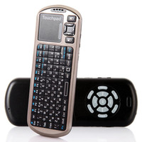 Wholesale Russian Version New Arrival iPazzPort G Mini Handheld Wireless Keyboard with IR Remote Laser Pointer DHL free LY