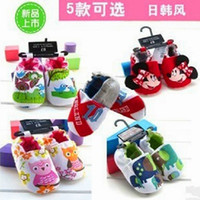 Wholesale Baby cotton fabric shoes many designs bowknot cartoon prewalker shoes pairs KZD X0019