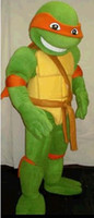 Mascot Costumes Unisex Free Size Wholesale - 2014 Hot New Teenage Mutant Ninja Turtle Mascot Costume Adult Character Costume C001