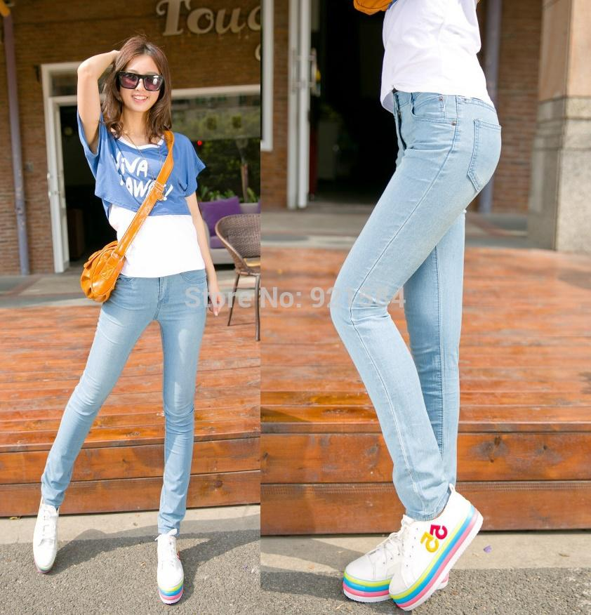 New Sale Denim Pants Women&39s Jeans/Fashion Mid Waist Good Quality