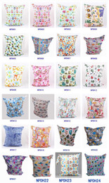 Wholesale Newborn Waterproof Zippered Wet Dry Bag Laundry Owl Wet Dry Cloth Diaper Bags Wet Swimsuit Bag Animal Printed by Melee WetBag cm