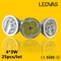 Wholesale LEDVAS High power Cree W x3W Dimmable GU10 MR16 E27 E14 G5 Led Light Lamp Spotlight led bulb By FEDEX