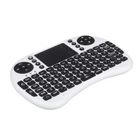 Wholesale 2 G Mini Wireless QWERTY Keyboard Mouse Touchpad for PC Notebook Android TV Box HTPC White DHL free LY
