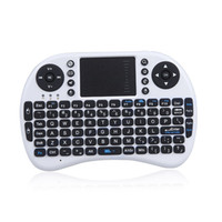 Wholesale Mini G Wireless QWERTY Keyboard Mouse Touchpad for PC Notebook Android TV Box HTPC White LY