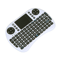 Wholesale 2 G Mini Wireless QWERTY Keyboard Mouse Touchpad for PC Notebook Android TV Box HTPC White DHL LY