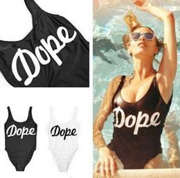 Wholesale New Black White S M L XL Sexy Stampd California One Piece Dope Swimsuit Swim Suit Women Swimwear Push Up Summer Bathing Suit