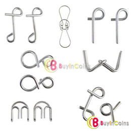 Wholesale Fashion Special Hot Sale Metal Rings Sets Metal Ring Puzzle IQ Brain Teaser Test Toy Gift