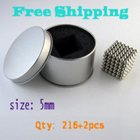 Wholesale mm BuckyBalls Magnetic Ball set with metal box Nickel Neo Cube Magnet Ball Neodymiums NEOCUBE