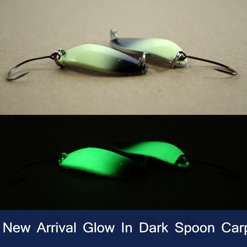 Night Fishing Lure Glow In Dark Spoon Bait Luminous Single