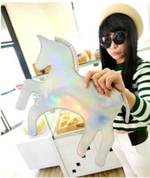Wholesale new unicorn bag black silver pink red gold horse bag hot selling lady party bag fashion style evening bag