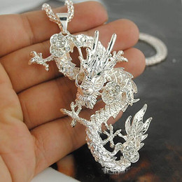 Wholesale Venta al por mayor caliente de la moda china del dragón collares pendientes de la manera P067 joyería caliente de la venta