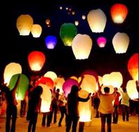 Multicolor Irregular other Wholesale - Free Shipping Chineses Lantern Sky Lantern Kongming Lantern Flying Wishing Lamp Wedding Party Paper Lights(500 pcs lot) 9 color