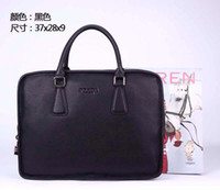 Wholesale New Style Men s Leather Briefcase Business Handbag Leather Bag Computer