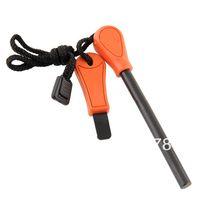 ferrocerium - Orange Handle Ferrocerium Flint Rod Fire Starter Lighter Magnesium Survival Tool