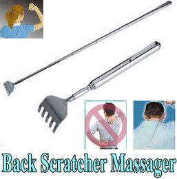 Wholesale Stainless Steel Back Scratcher Telescopic Portable Extendable Handy Pocket Pen Clip Back Scratcher10pc