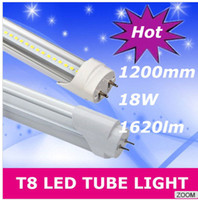T8 20w 2835 Wholesale - FCC CE ROHS 22W 2100lm 1.2m 4ft T8 Led Tubes Lights AC 110-277V Warm Natural Cool White SMD 2835 Led Fluorescent Lamp Tube Li