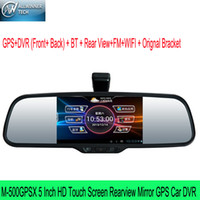 Cheap M-500GPSX GPS Car DVR BT Rear View Support Wifi Car Recorder 5 Inch Android HD Touch Screen Rearview Mirror Allwinner chip
